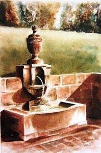 799- Grande aquarelle sur Luxeuil, 50 x 70