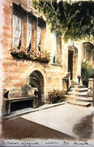 802- Grande aquarelle sur Luxeuil, 50 x 70