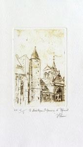 * 174- Estampe sur Épinal  format 20X30 Vélin d'Arches