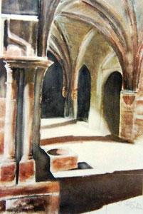 * 774- Le Cloître,50 X 70 , Arches 300 gr
