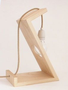 lampe contemporaine bois chanvre