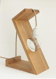 lampe design bois chanvre