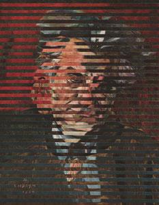 """Репин, 1844-1930; «Голова сельского жителя», конец  1870 - начало 1880.  +  М.С. Сарьян, 1880-1972; """"Портрет историка Ашота Иоанисяна, 1958."""