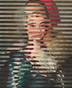 """Г.Г. Ряжский 1895-1952; """"Женский портрет"""", 1934.   +  Д.Г. Левицкий 1735-1822; """"Портерет неизвестной в голубом платье"""", 1784."""