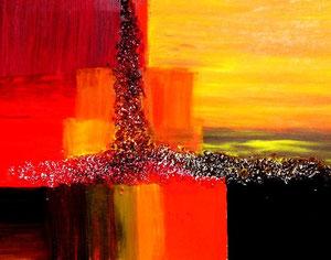 87   Das Friedenslicht - Experimentelle Acrylmalerei
