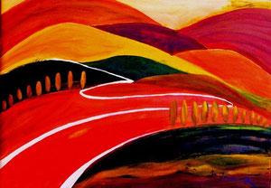 141   Energiebild Landschaft Öl-Acryl