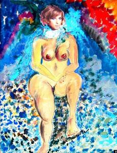 119   Lady in blue - Akt