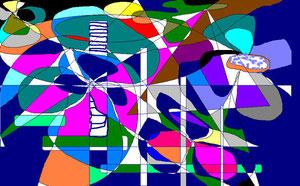 179  Blütenmeer - Computerkomposition