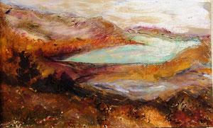 150   Landscape1 - Experimentelle Acrylmalerei