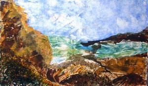 147   Die Ruhe  - experimentelle Acrylmalerei