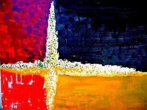 149   Die Entscheidung -Experimentelle Arylmalerei