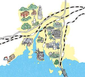 倉敷イラストマップ/2015.07