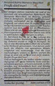 """Rückseite des Büchleins """"Froga därf mer!"""""""