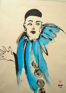 Clown türkis/34,7x48,0cm/ID: P86-1898