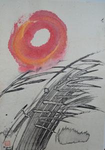 Zen-Sonnenkreis/1988/48,0x69,0cm/ID: 9S85-1160/850.-€