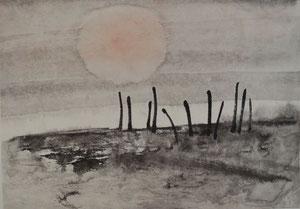 Sonnenaufgang/Sumi-e/24,0x17,3cm/ID: 6S41-0785,1/250.-€