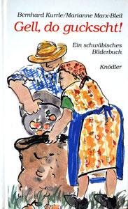 Texte in schwäbischer Mundart von Bernhard Kurrle und Zeichnungen, tlw. farbig, von Marianne Marx-Bleil