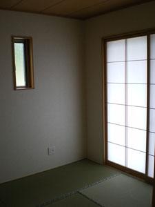 和室です。柔らかな光が差し込みます。
