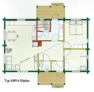 Kuusamo Blockhaus 89PU - 50plus - EG