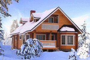 Kuusamo Holzhaus in Blockbauweise