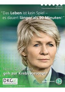 """Motiv 3 -  Kampagne 2011 """"Nimm Dir die Zeit, geh zur Krebsvorsorge"""""""