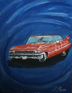 Christine Chevrolet Acryl auf Leinwand 30cm x 40cm Preis: € 95,--