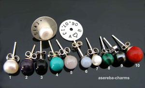 Ohrstecker-Set zum Kombinieren mit diversen Edelsteinen oder Zuchtperlen