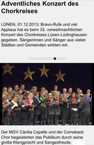 Vorweihnachtliches Chorkonzert, 01.12.2013
