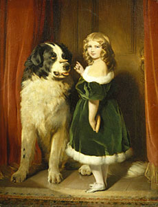 Princess Mary and Favourite Newfoundland Dog - Dated 1839