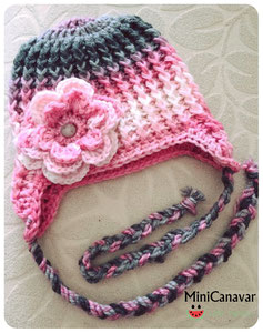 Mütze Pink-Rosa Ombre
