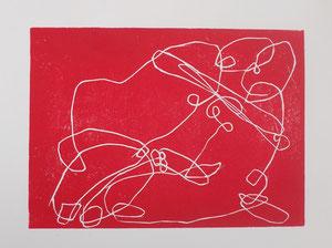 Ficken 2016 Linolschnitt 15 x 20,5 cm