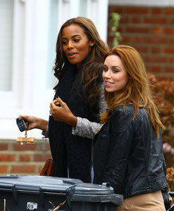 Rochelle and Una from The Saturdays London UK