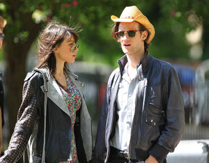 Matt Smith and Daisy Lowe out in Primrose Hill. London UK