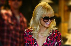 Paris Hilton shopping at All Saints clothing store. Camden, London UK