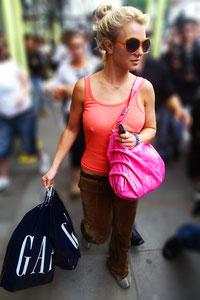 Britney Spears shopping at GAP Knightsbridge, London UK