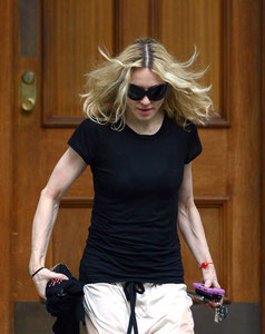 Madonna leaving the gym. London UK