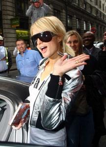 Paris Hilton in Mayfair. London UK