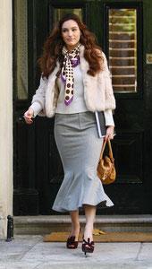 Kelly Brook leaving home. London UK