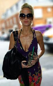 Sarah Harding arriving at Harrods, London UK