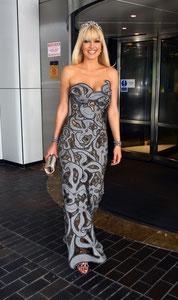 Emma Noble leaving The Hilton Hotel. Notting Hill, London UK
