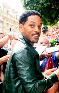 Will Smith arrivng at the Manderin Hotel. London UK