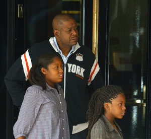 Forest whittaker taking daughters shopping in London UK