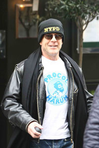 Bruce Willis out in London UK