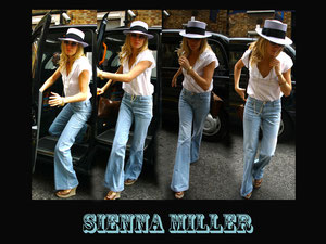 Sienna Miller leaving a cab. London UK