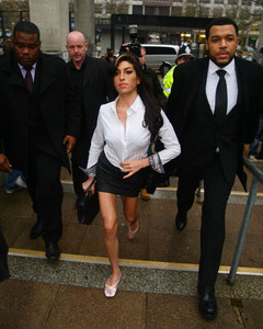 Amy Winehouse arriving at Milton Keyens Magistrates. UK