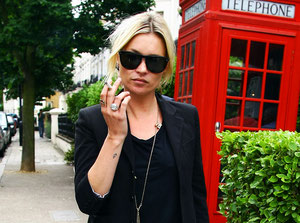 Kate Moss out in London. UK