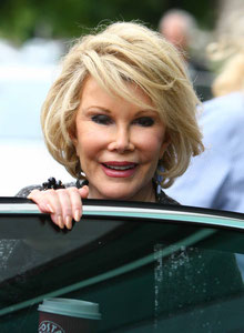 Joan Rivers leaving ITV Studios. London UK