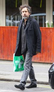 Tim Burton out in London UK