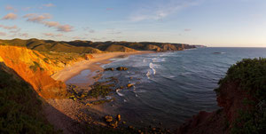 Amado Strand - Algarve 4 pictures panorama
