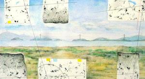 Layered Landscape(ノート・海辺) W500×D270㎜